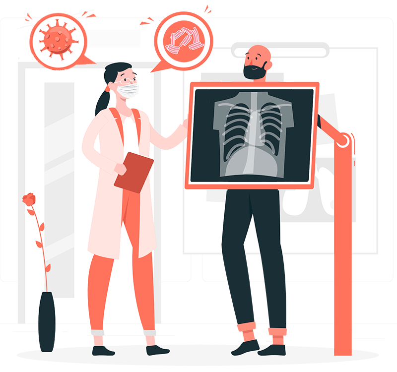 Radiografia Tuberculosis y covid 19